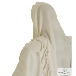 Talit Gadol Malhout blanc