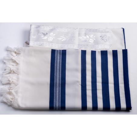 tallit for children with blue stripe