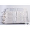 tallit for children bright white stripes