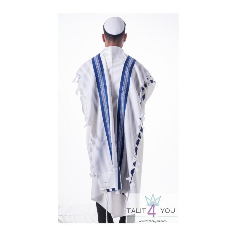 Talit Gadol - bandes bleues