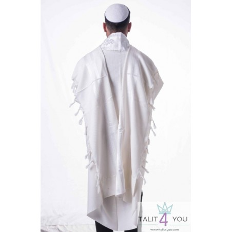 Talit Chabath bandes blanches