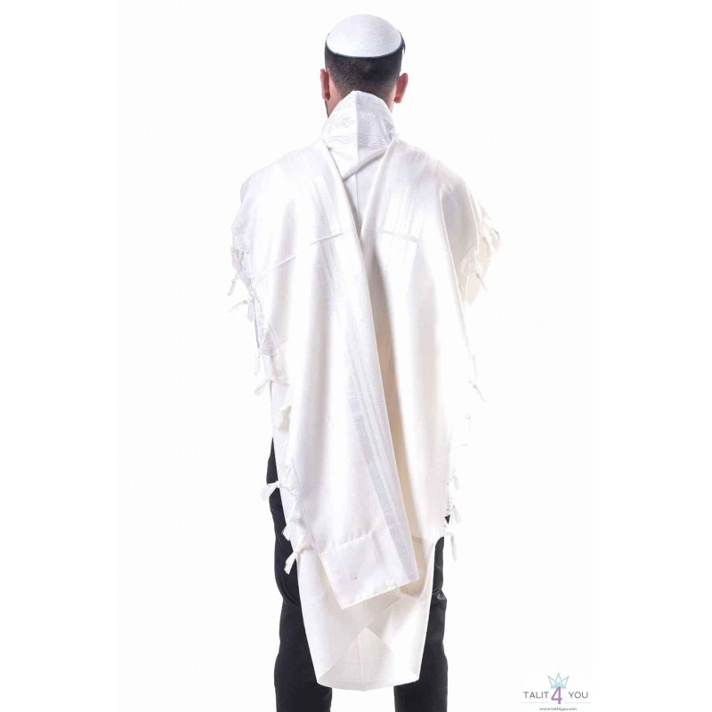 Talit Gadol Pèer Kal Blanc