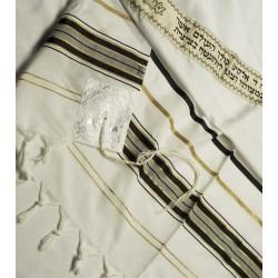 Tallit for shildren white and gold